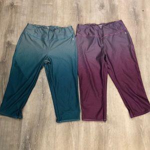 Lot of 2 Danskin Now Fitted Capri leggings